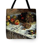 Monet Claude Still Life Apples And Grapes Tote Bag