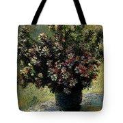 Monet Claude Vase Of Flowers Tote Bag