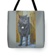 Monet Coming Through Fence Tote Bag