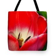 Monet Garden Red Tulip Tote Bag