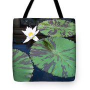 Monet Lilies White  Tote Bag