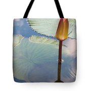 Monet Water Lily Stem Red Orange Tote Bag