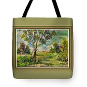 Monetcalia Catus 1 No. 3 Landscape Scene Near Fontainebleau L B With Alt. Decorative Printed Frame. Tote Bag