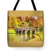 Monetcalia Catus 1 No. 9 - Monet Decides To Paint The Arched Bridge At Stourhead. L A S Tote Bag