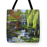 Monets Garden Painting Palette Knife Tote Bag