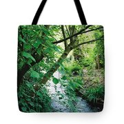 Monet's Garden Stream Tote Bag