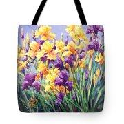 Monet's Iris Garden Tote Bag