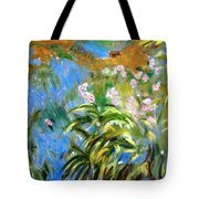 Monet's Irises Tote Bag