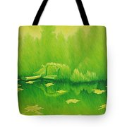 Monets Lily Pond In Yellow Giverny France Tote Bag
