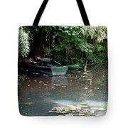 Monets Rowboats Tote Bag