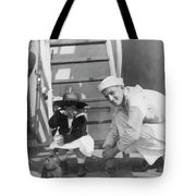 Monkey On The Ship Tote Bag
