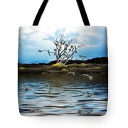 Money Tree On A Windy Day Tote Bag
