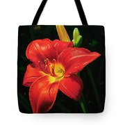 Monikas Red Lily Tote Bag