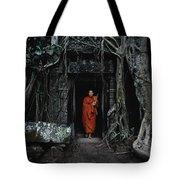 Monk At  Ta Prohm Temple  Tote Bag