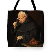 Monk With A Wine Tote Bag