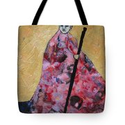 Monk With Walking Stick Tote Bag