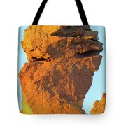 Monkey Face Pillar At Smith Rock Closeup Tote Bag