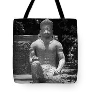 Monkey In Black And White Tote Bag