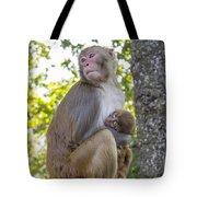 Monkey Mom Tote Bag