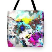Monkey Painted Italy Pastels Tote Bag