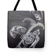 Monkey Playing Tuba Tote Bag