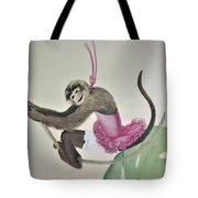 Monkey Swinging In The Trees Tote Bag