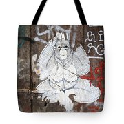 Monkey With Eyes Tote Bag