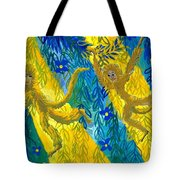 Monkeys And Sunbeams Tote Bag