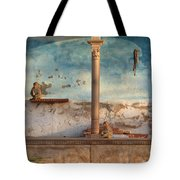 Monkeys At Sunset Tote Bag