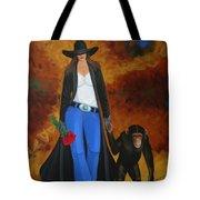 Monkeys Best Friend Tote Bag by Lance Headlee