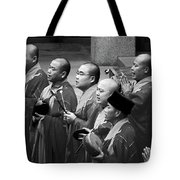 Monks Chanting - Jing'an Temple Shanghai Tote Bag