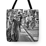 Monks Out And About Tote Bag