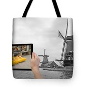 Monochromatic Concept Travel To Netherlands Tote Bag