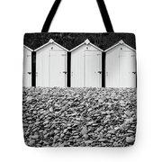 Monochrome Beach Huts Tote Bag