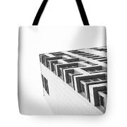 Monochrome Building Abstract 4 Tote Bag