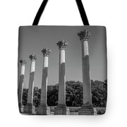 Monochrome Columns Tote Bag