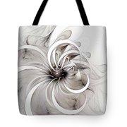 Monochrome Flower Tote Bag