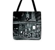 Monochrome Grayscale Palyhouse Square Tote Bag