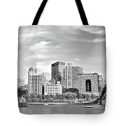 Monochrome Pittsburgh Panorama Tote Bag