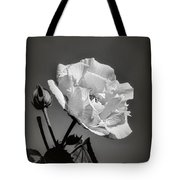Monochrome Rose Of Sharon Tote Bag by Elaine Teague