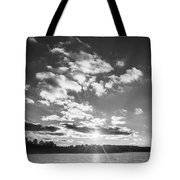 Monochrome Vintage Sunset  Tote Bag