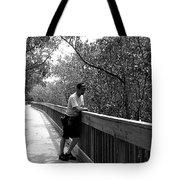 Monochrome Weedon Island Boardwalk  Tote Bag