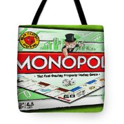 Monopoly Board Game Painting Tote Bag