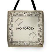 Monopoly Board Patent Vintage Tote Bag