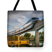 Monorail At Golden Hour Tote Bag