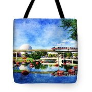 Monorail Red - Coming 'round The Bend Tote Bag