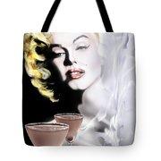 Monroe-seeing Beyond Smoke-n-mirrors Tote Bag by Reggie Duffie
