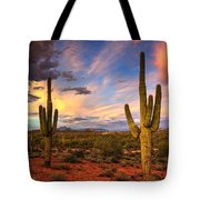 Monsoon Desert Sunset  Tote Bag