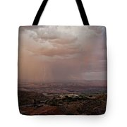 Monsoon Lightning And Rainbow Tote Bag