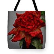Monster Red Flower Tote Bag